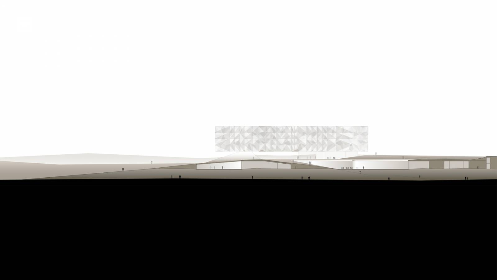 SITE SECTION - Lernacken Hotel - SPOL Architects