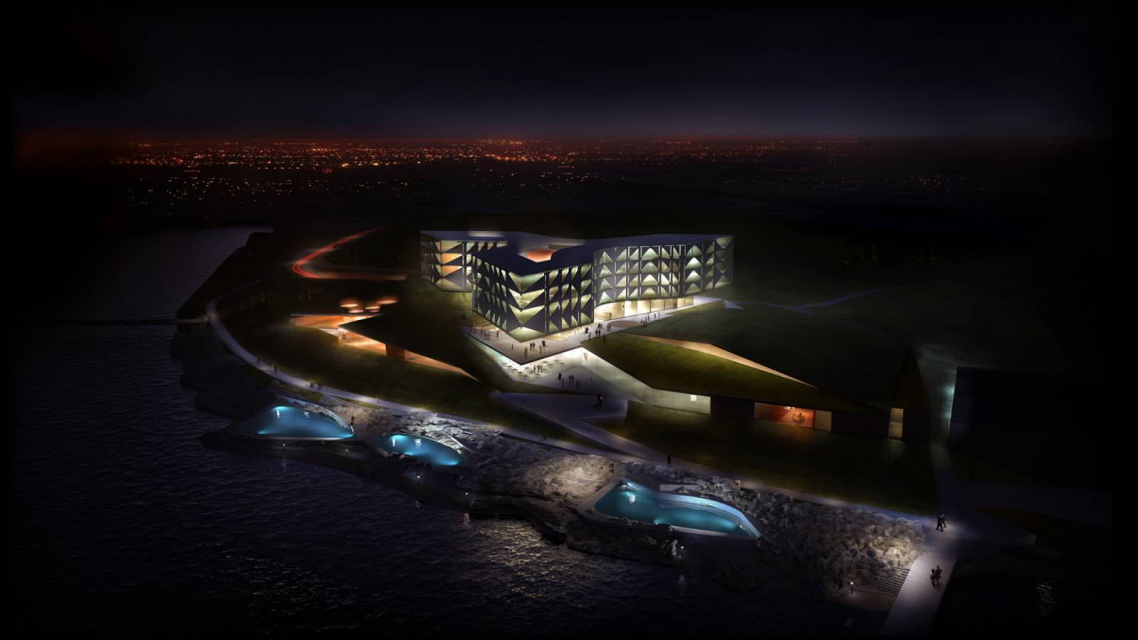 LERNACKEN BY NIGHT - Lernacken Hotel - SPOL Architects