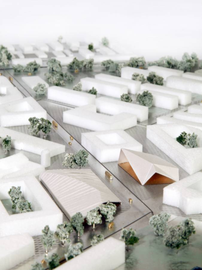 CENTRE WITH NEW BAZAR AND IDEA STORE - Drottninghög - SPOL Architects