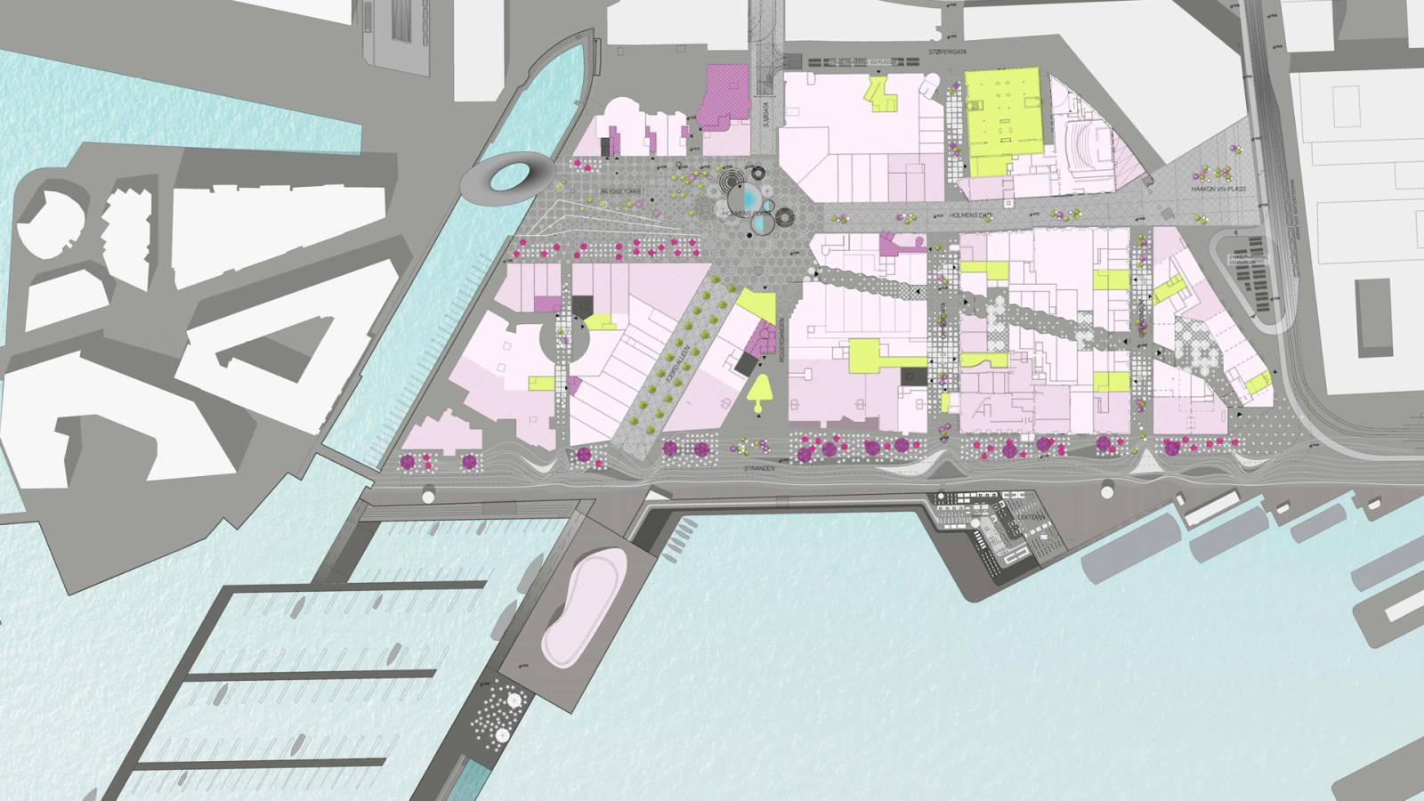 PLAN - Aker Brygge Masterplan - SPOL Architects