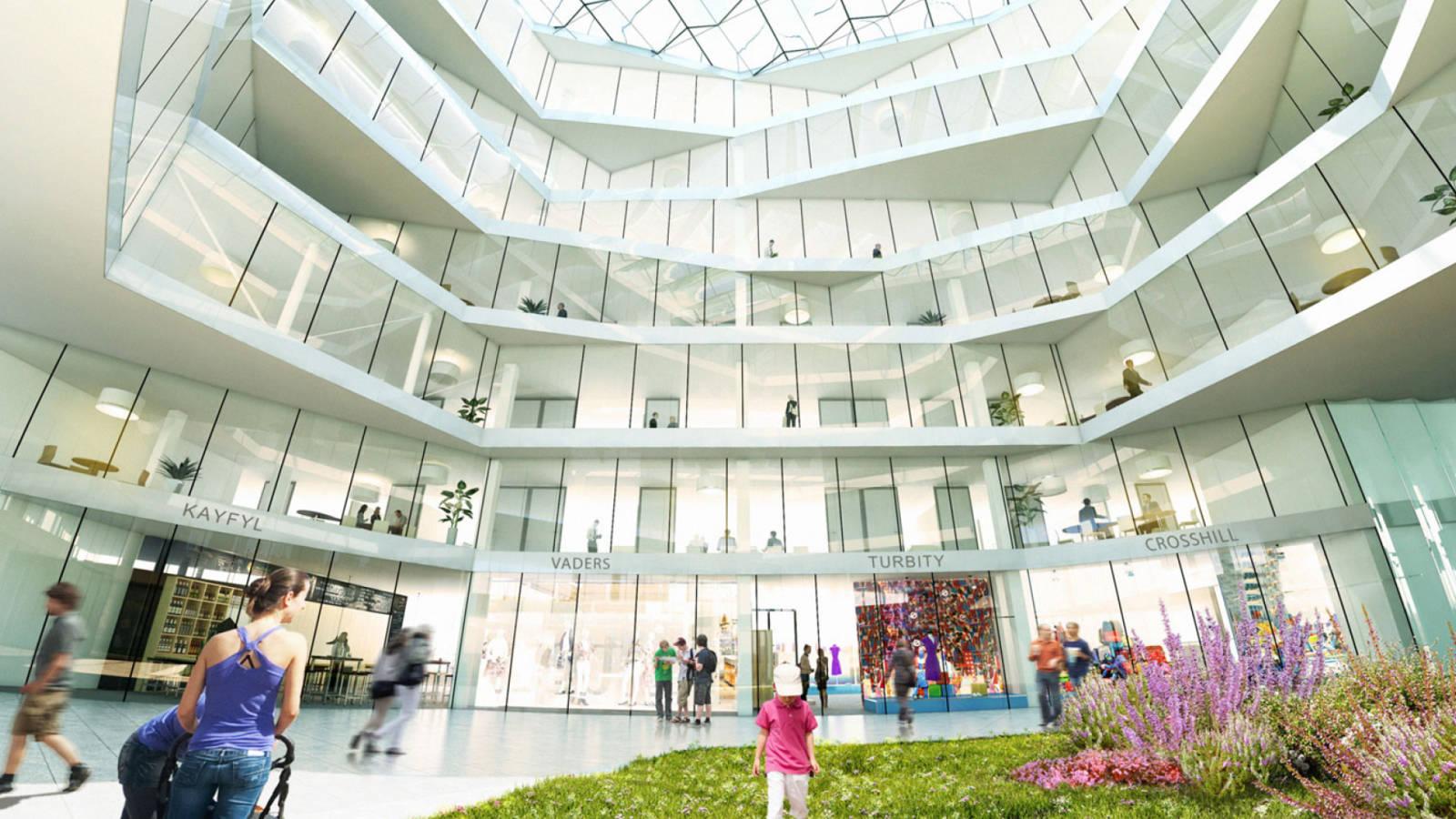 CLEAN CUT ATRIUM - Aker Brygge Masterplan - SPOL Architects