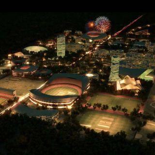 SG119_India_Sports_City_SPOL_Architects_2_Night view