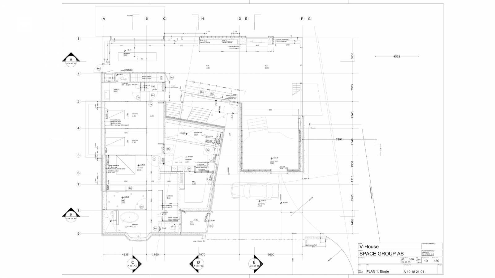 LOWER LEVEL PLAN - V-House - SPOL Architects