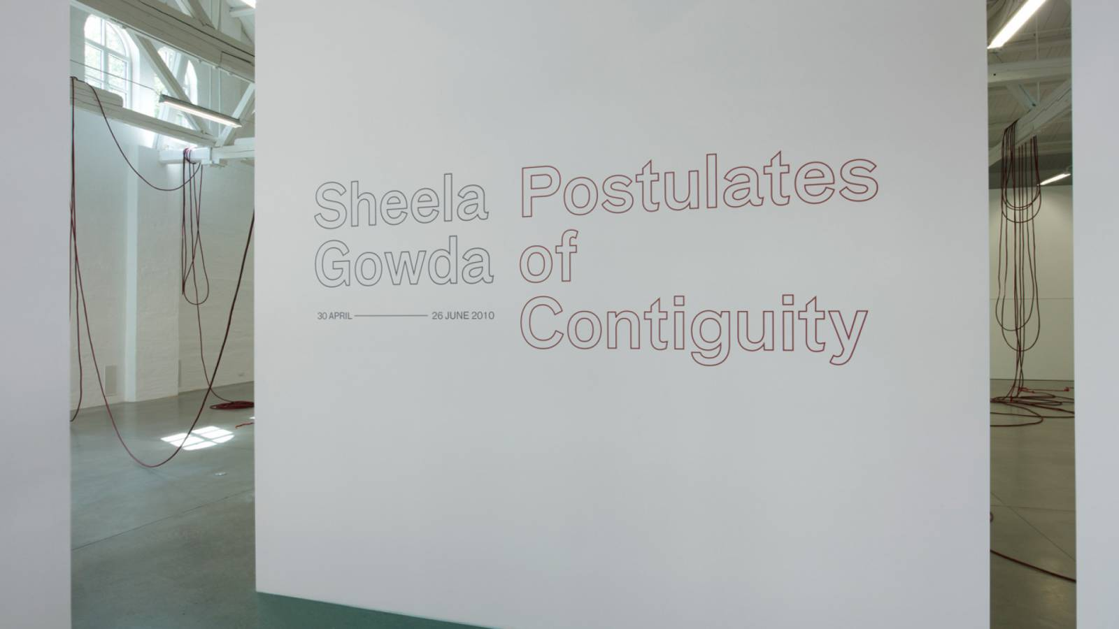 SHEELA GOWDA AT OCA - Office for Contemporary Art - SPOL Architects