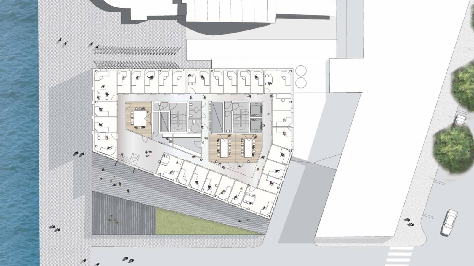 FLOOR PLAN OFFICE - Aviation Authority HQ - SPOL Architects