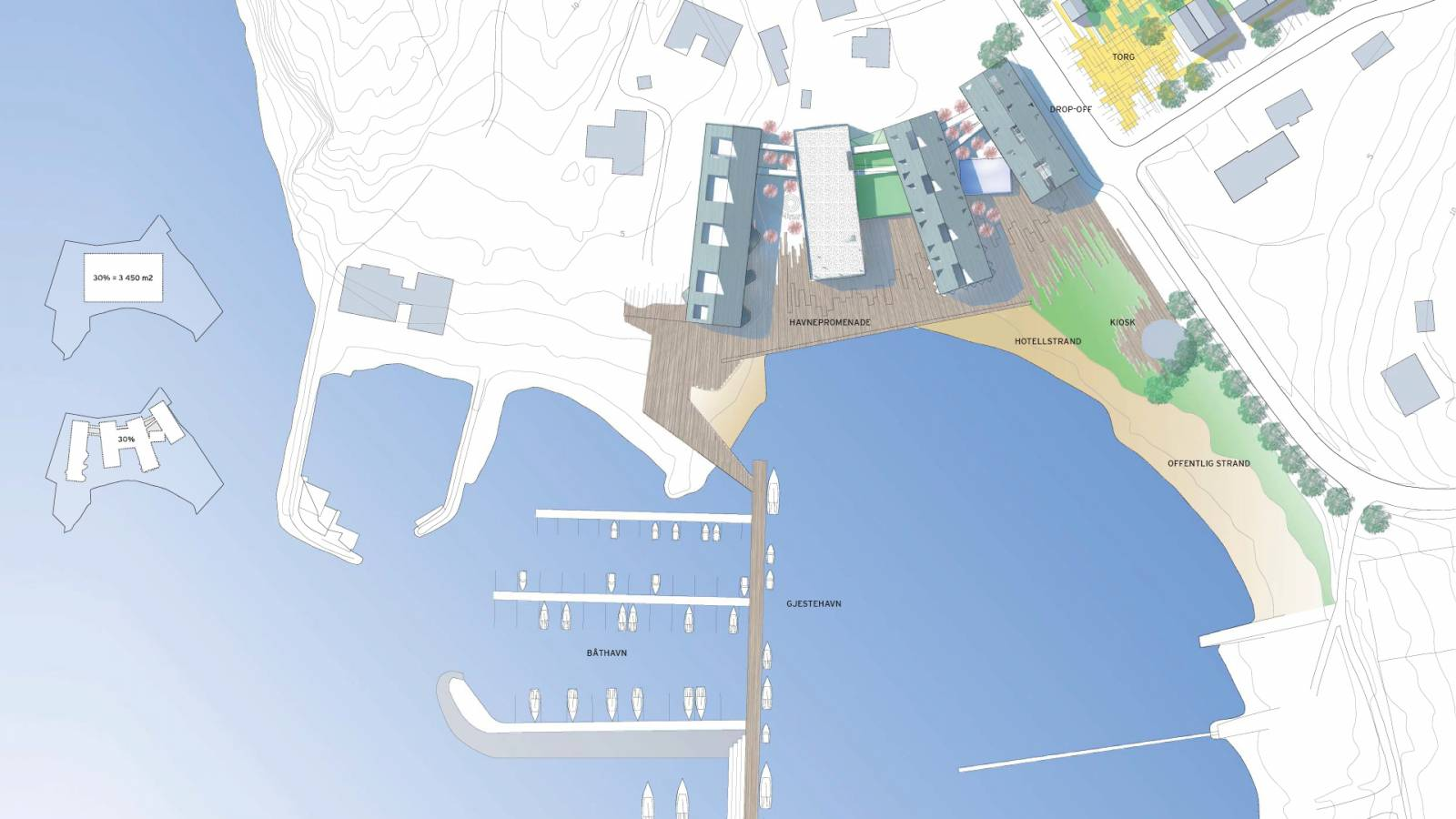 SITE PLAN HOTEL - Støtvig Hotel & Resort - SPOL Architects