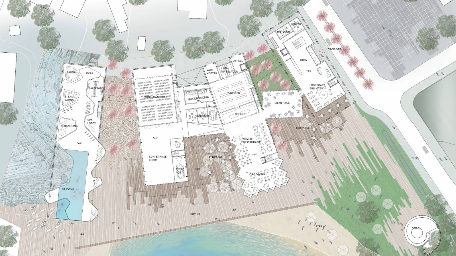 GROUND FLOOR PLAN - Støtvig Hotel & Resort - SPOL Architects