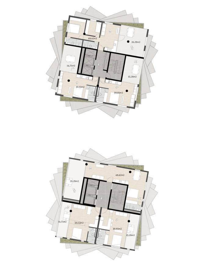 UPPER LEVEL PLANS - Huma Tower - SPOL Architects