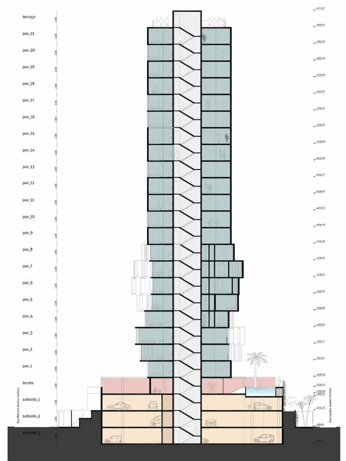 SECTION - Itaim Tower - SPOL Architects
