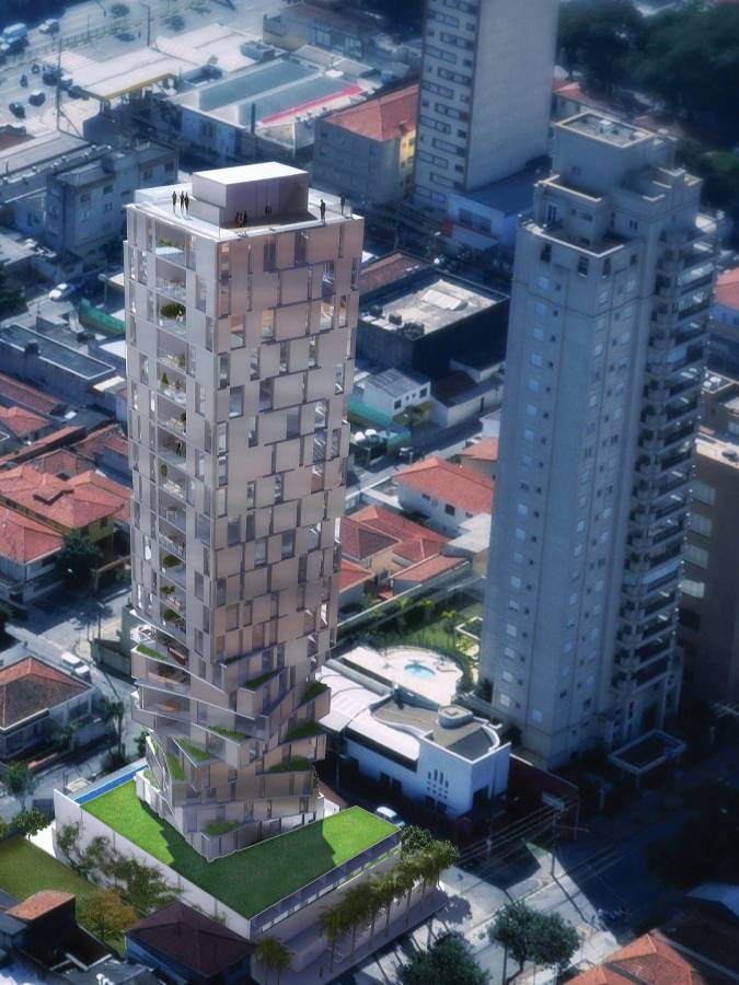AERIAL VIEW - Itaim Tower - SPOL Architects