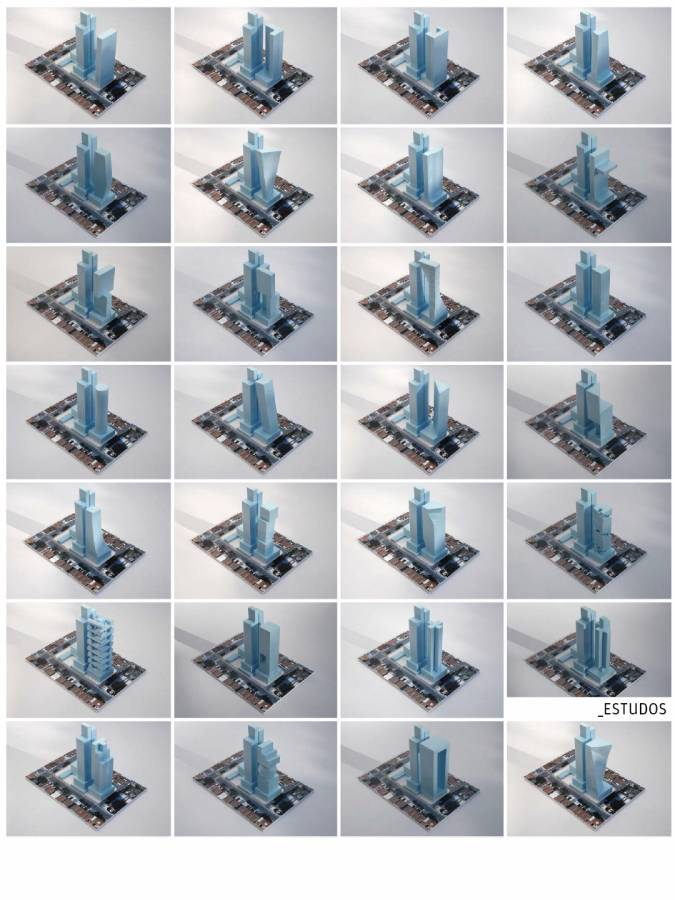 MODEL STUDIES - Itaim Tower - SPOL Architects