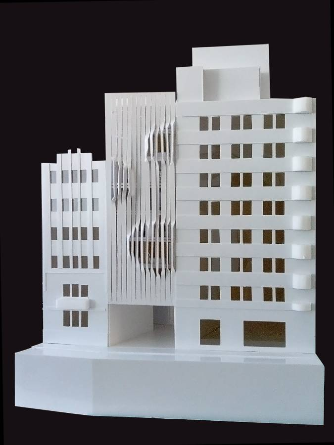 FACADE MODEL - Salvador Lofts - SPOL Architects