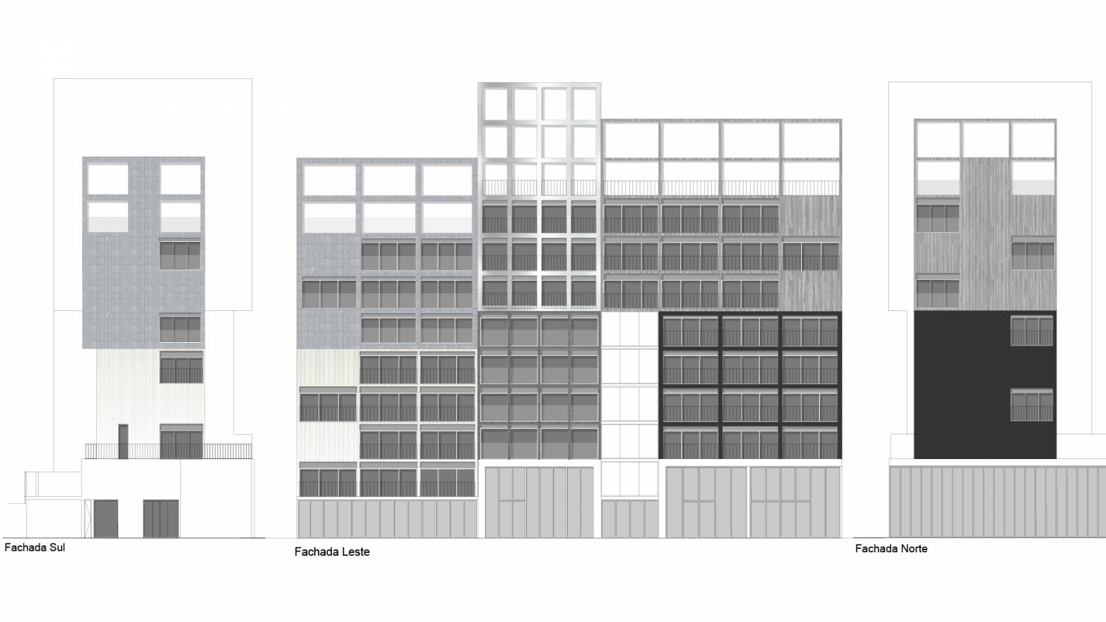 ELEVATIONS - Fiandeiras Apartments - SPOL Architects