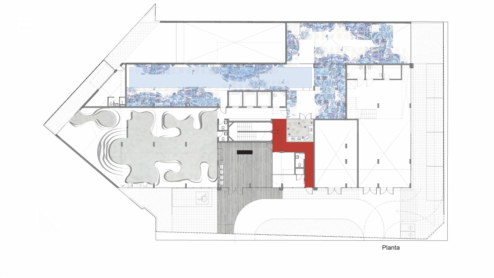 GROUND LEVEL PLAN - Fiandeiras Apartments - SPOL Architects