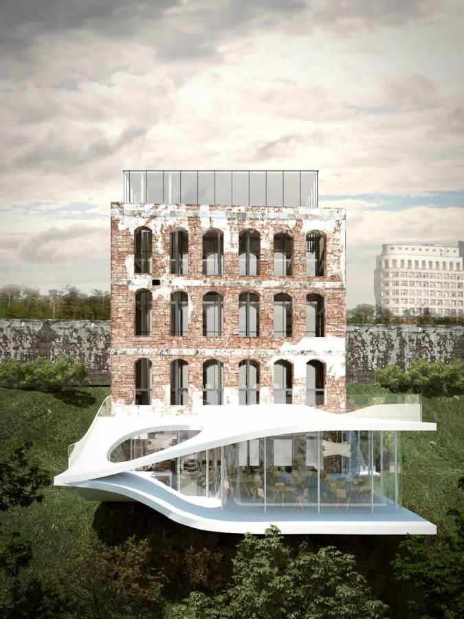 RENDER FINAL PROPOSAL - BACK FAÇADE - Sodré - SPOL Architects
