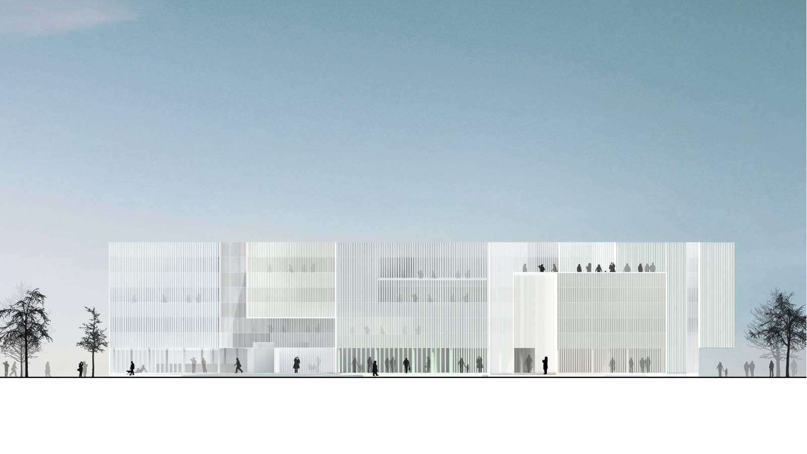HARBOUR BASIN ELEVATION - Sandnes Town Hall - SPOL Architects