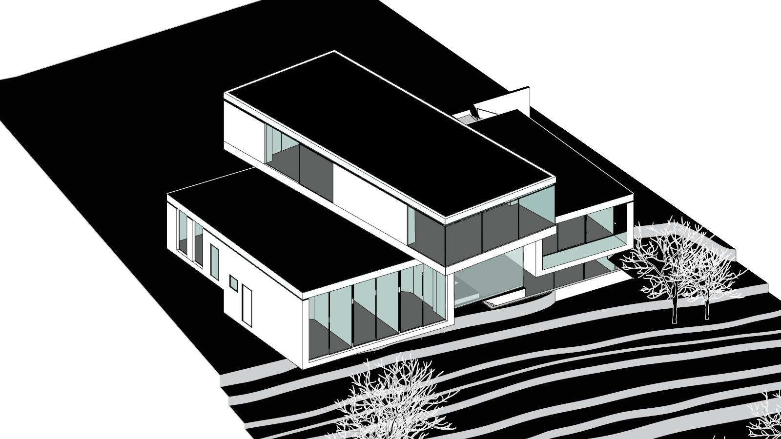 AXONOMETRIC PROJECTION DETAIL - CPH HOUSE - SPOL Architects