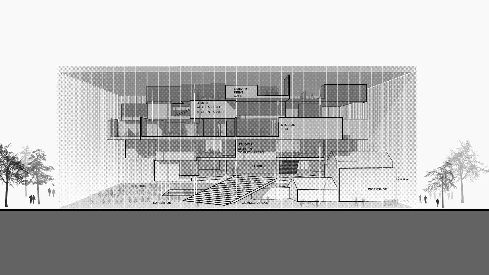 ELEVATION - NEW AARCH – CREATIVE CLOUD - SPOL Architects