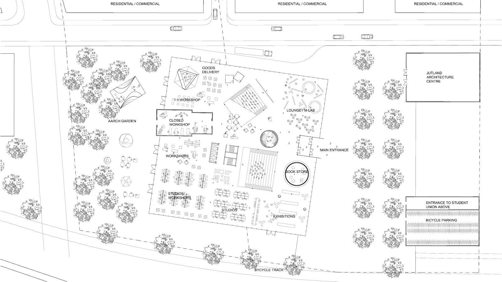 GROUND FLOOR PLAN - NEW AARCH – CREATIVE CLOUD - SPOL Architects