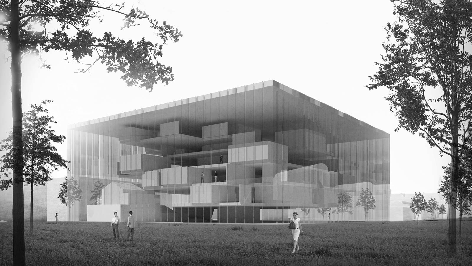 EXTERIOR PERSPECTIVE - NEW AARCH – CREATIVE CLOUD - SPOL Architects
