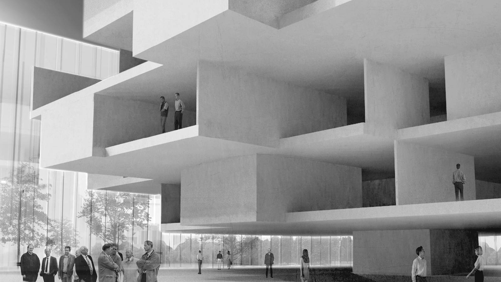 INTERIOR PERSPECTIVE - NEW AARCH – CREATIVE CLOUD - SPOL Architects