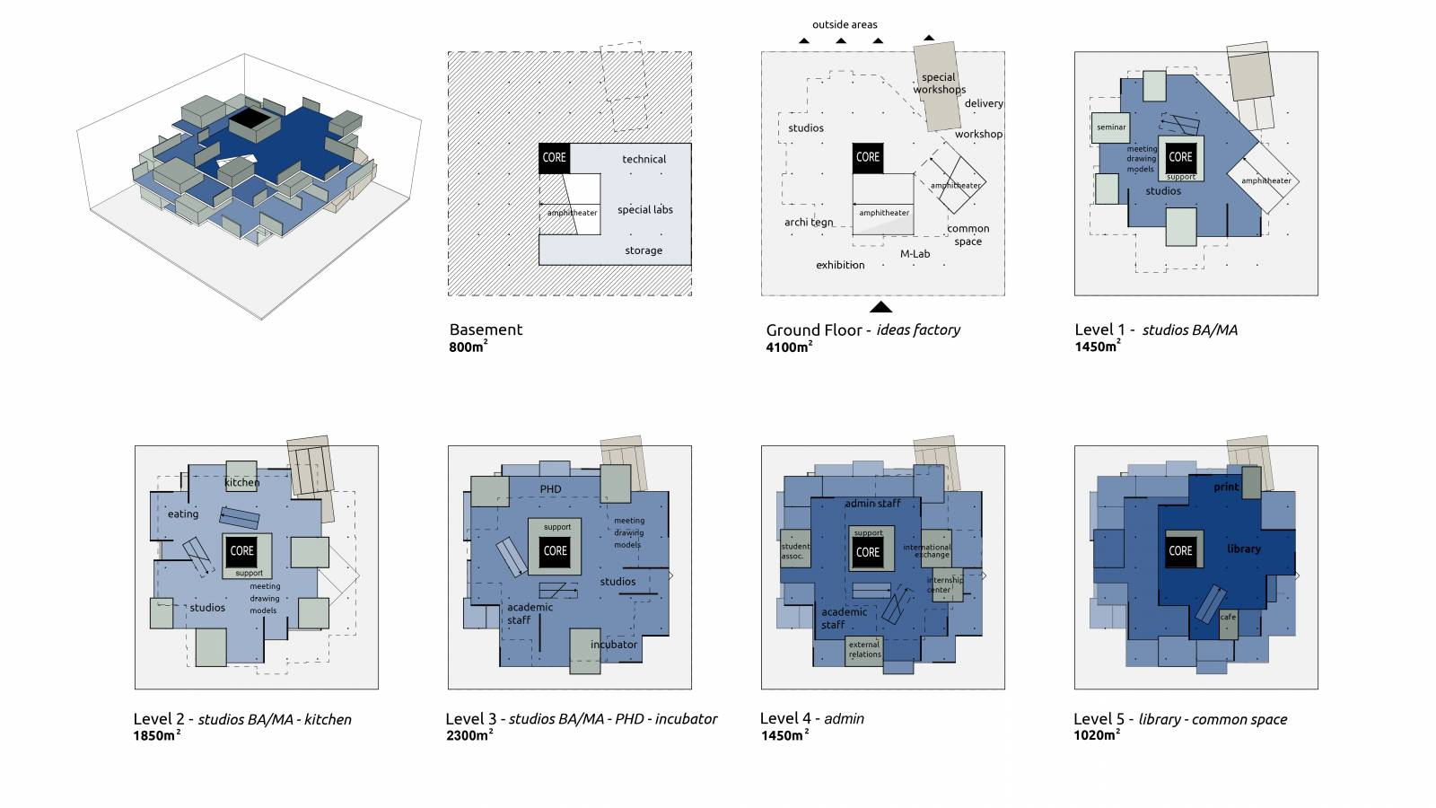 PLANS DIAGRAMS - NEW AARCH – CREATIVE CLOUD - SPOL Architects