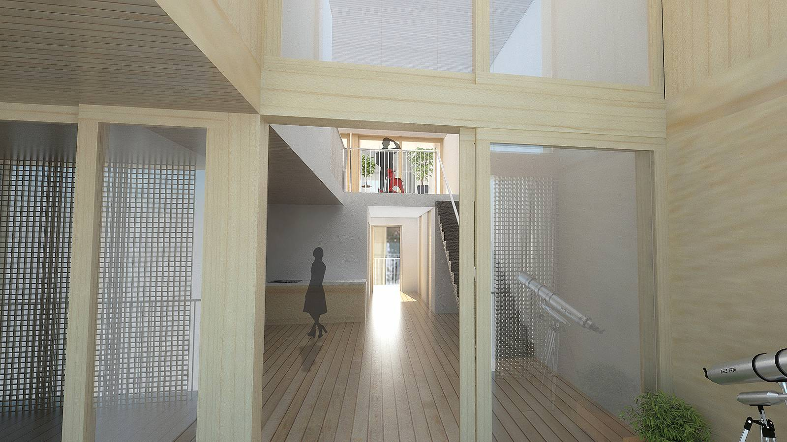 "VIEW THROUGH FLAT - Nydalsveien 32B – ""Huset"" - SPOL Architects"