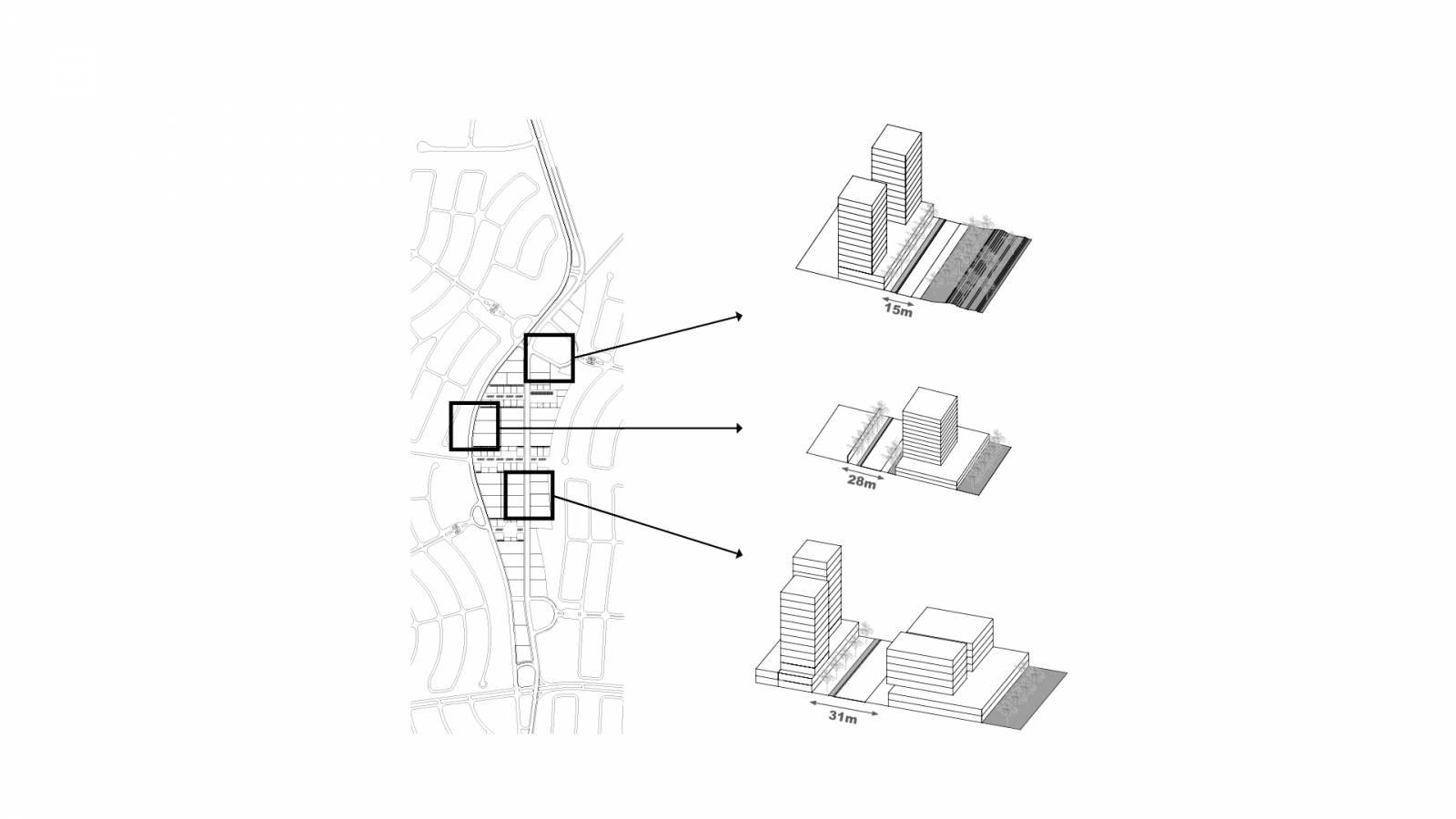 PUBLIC SPACES DIAGRAM - Alphaville Ceará - SPOL Architects