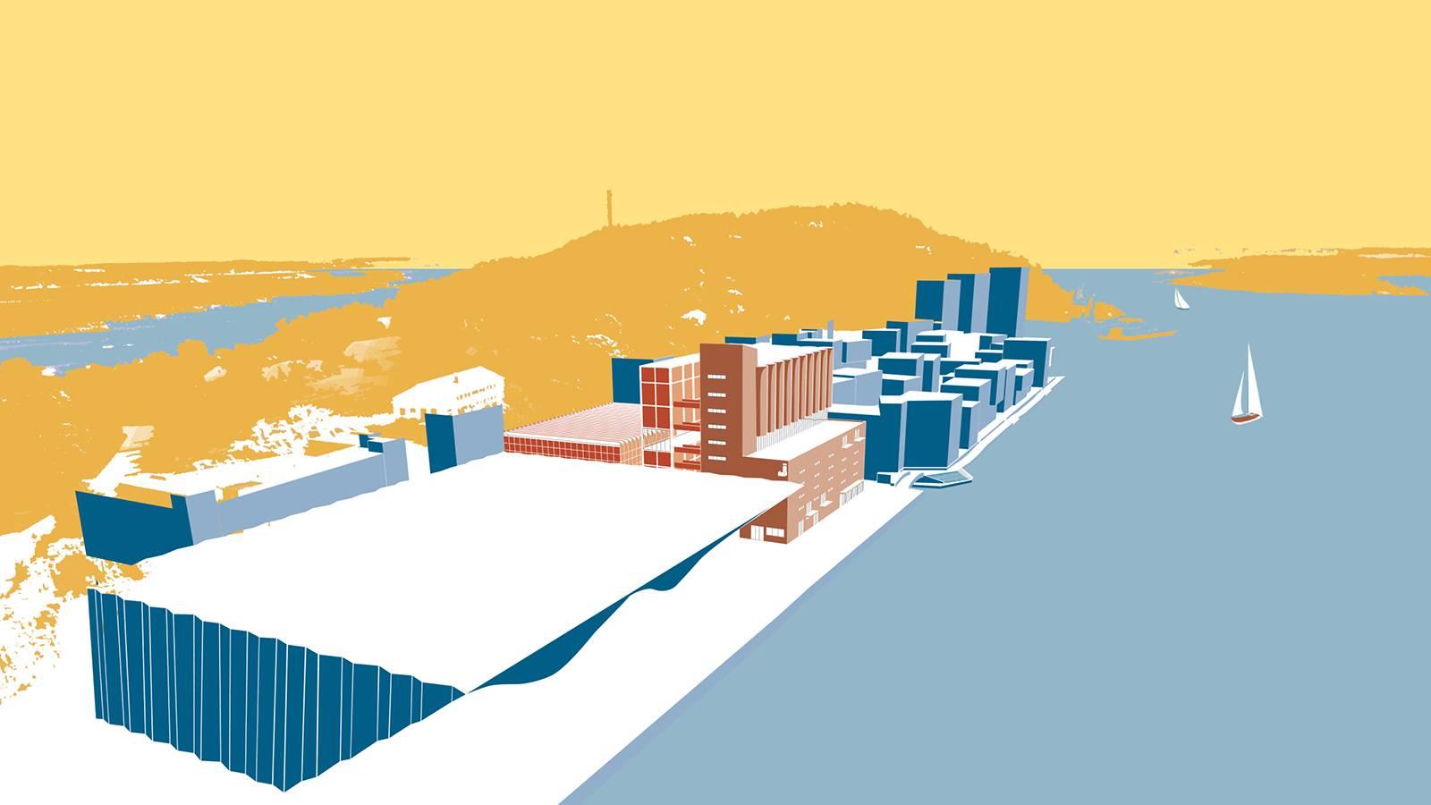 WATERFRONT ALONG PENINSULA - Kunstsilo - SPOL Architects