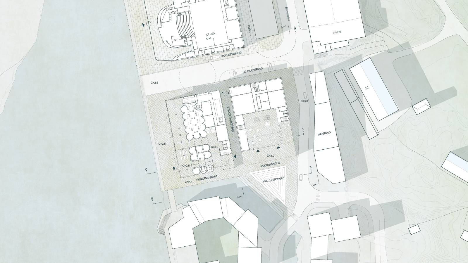 SITE PLAN - Kunstsilo - SPOL Architects