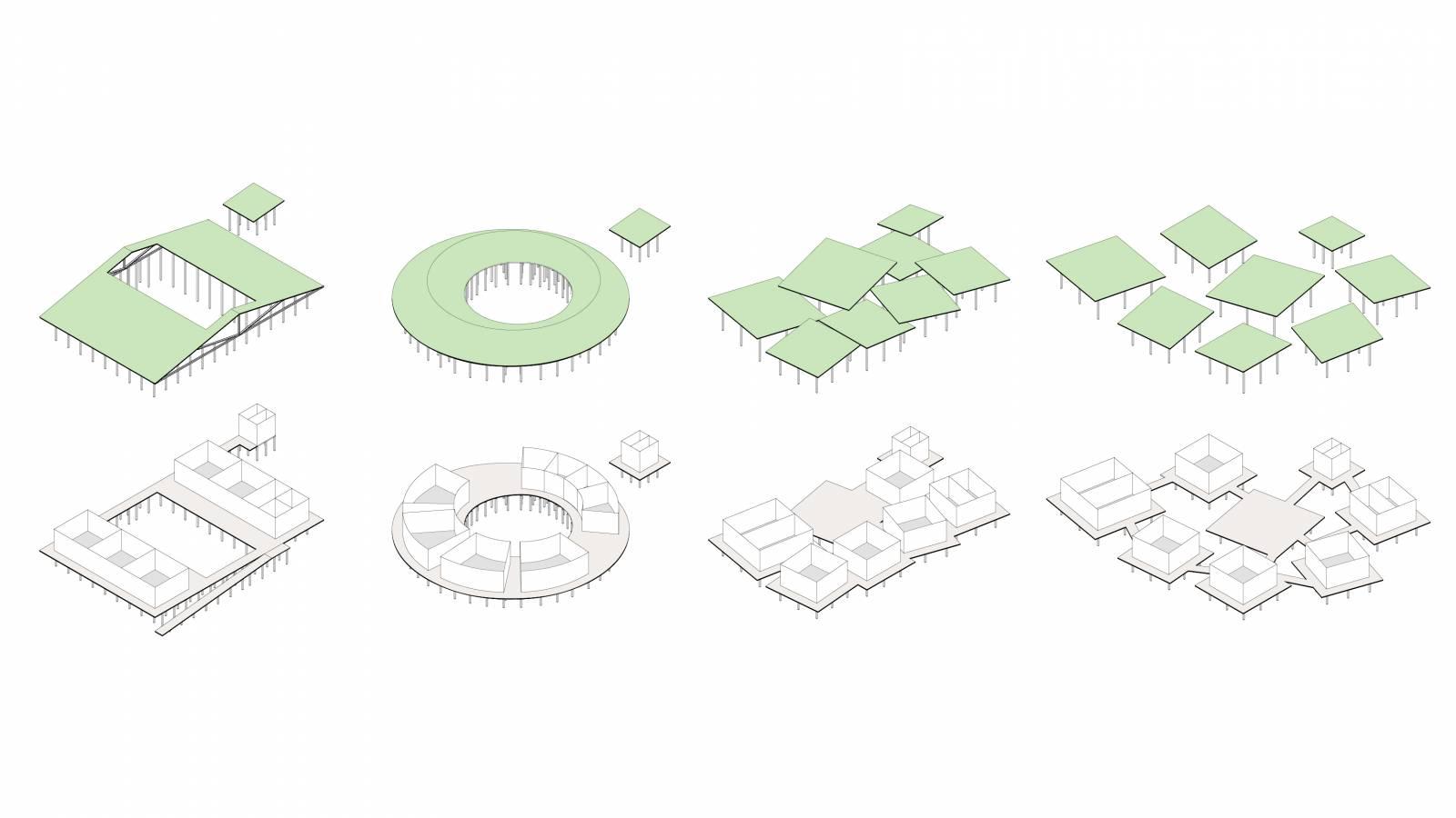 ISOMETRIC CONCEPTS - Igapó-Açu School - SPOL Architects