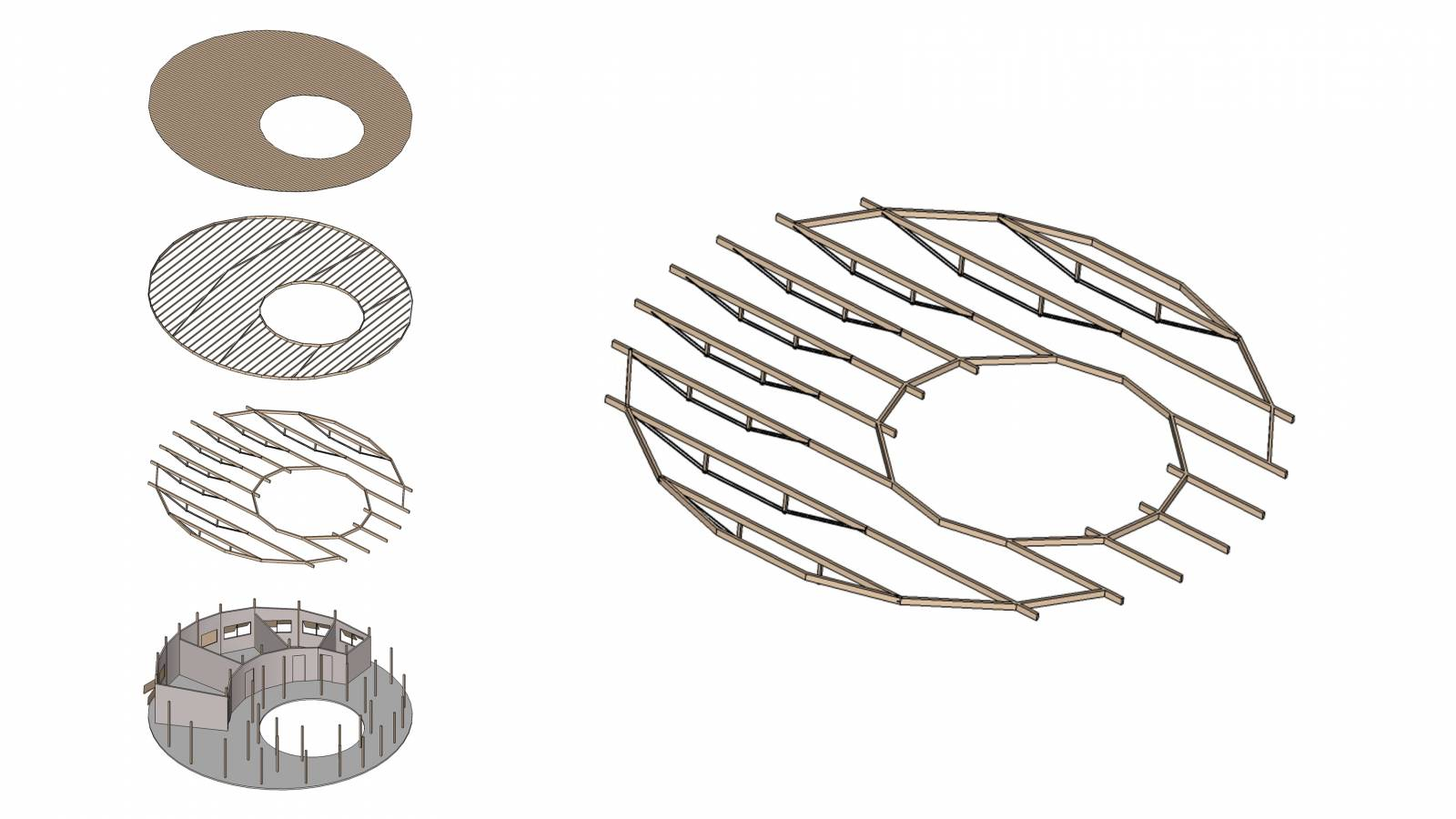 AXONOMETRIC PROJECTION - Igapó-Açu School - SPOL Architects
