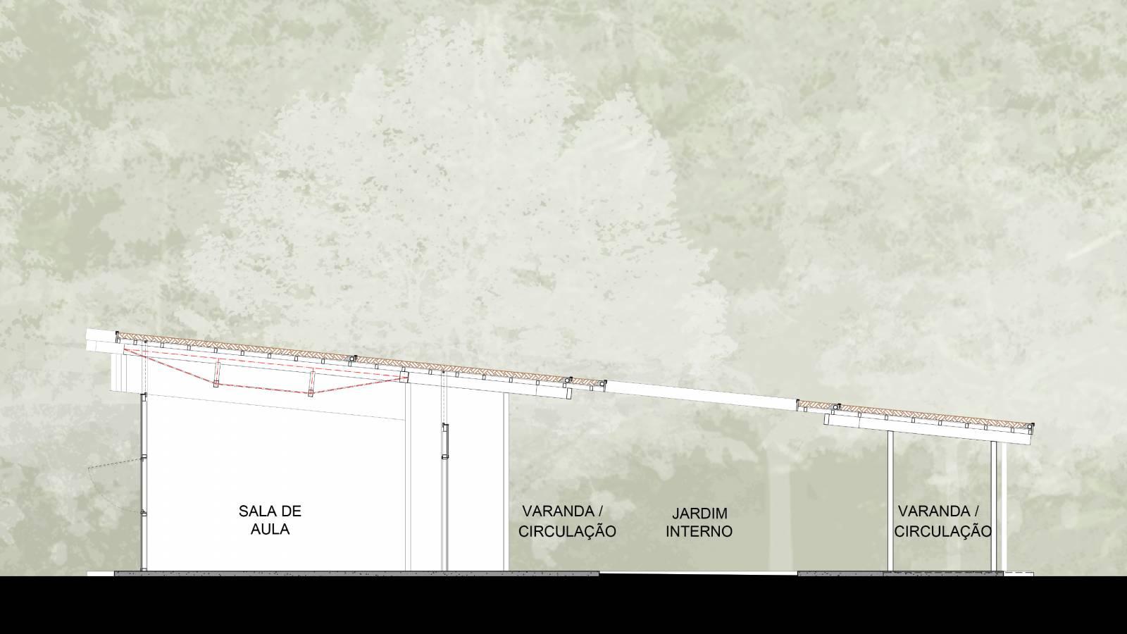 SECTION - Igapó-Açu School - SPOL Architects