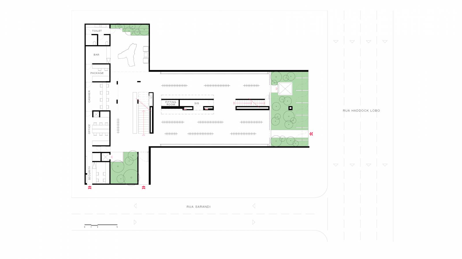 GROUND FLOOR PLAN - NK Store - SPOL Architects