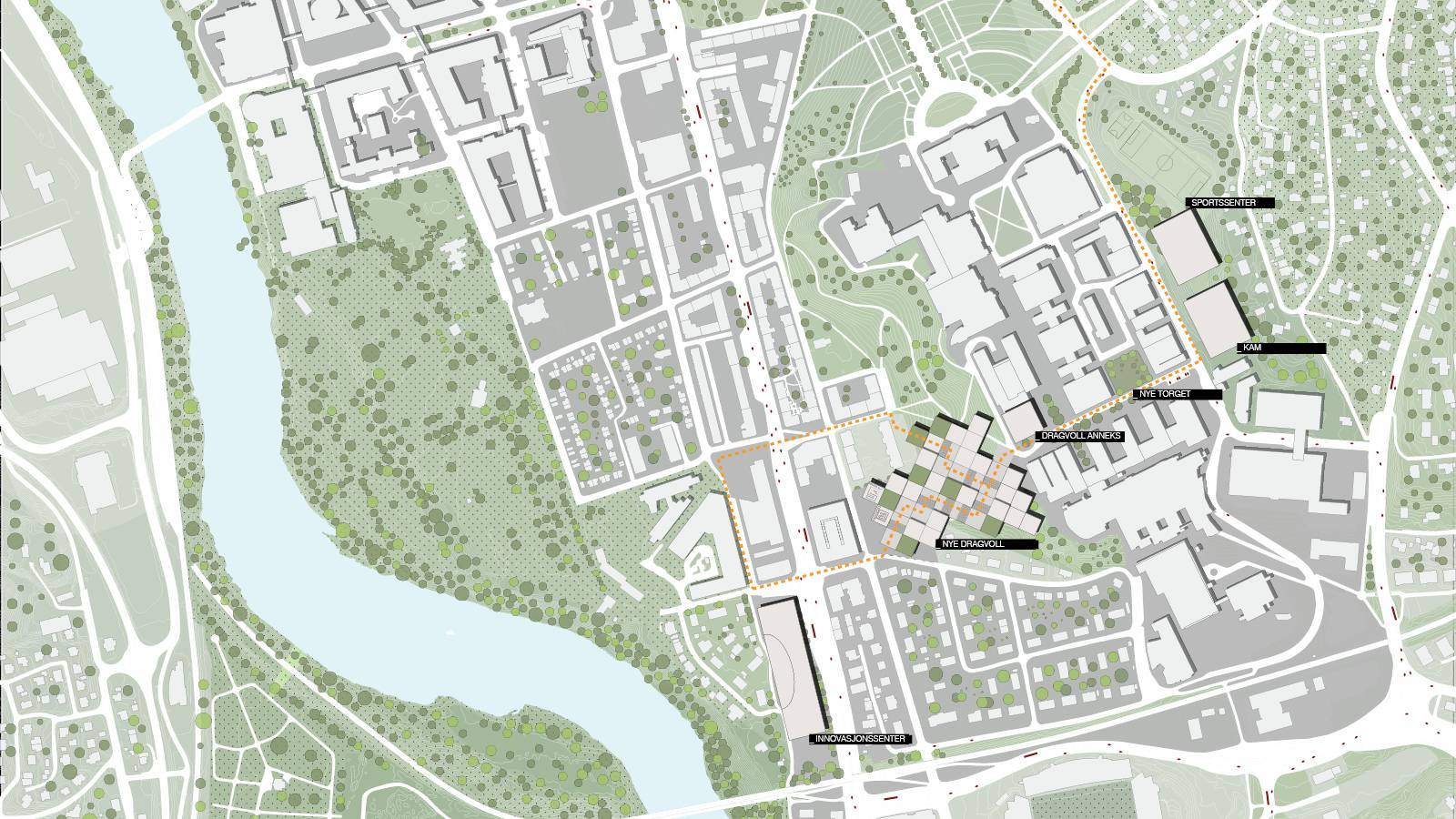 SITE PLAN - NTNU – Open Campus - SPOL Architects