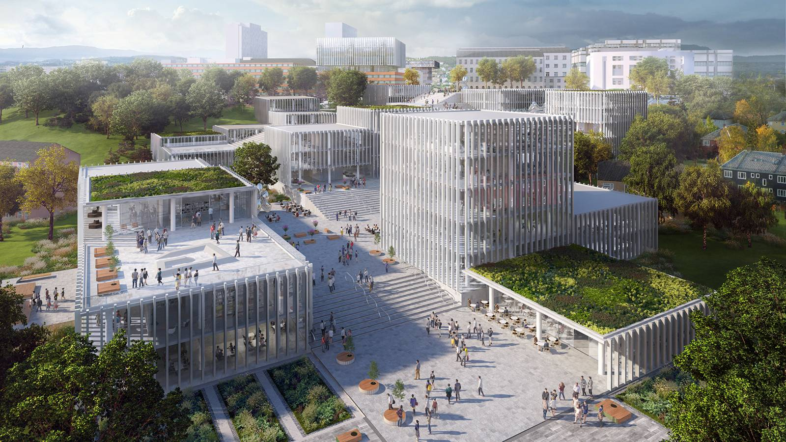 CAMPUS VIEW - NTNU – Open Campus - SPOL Architects