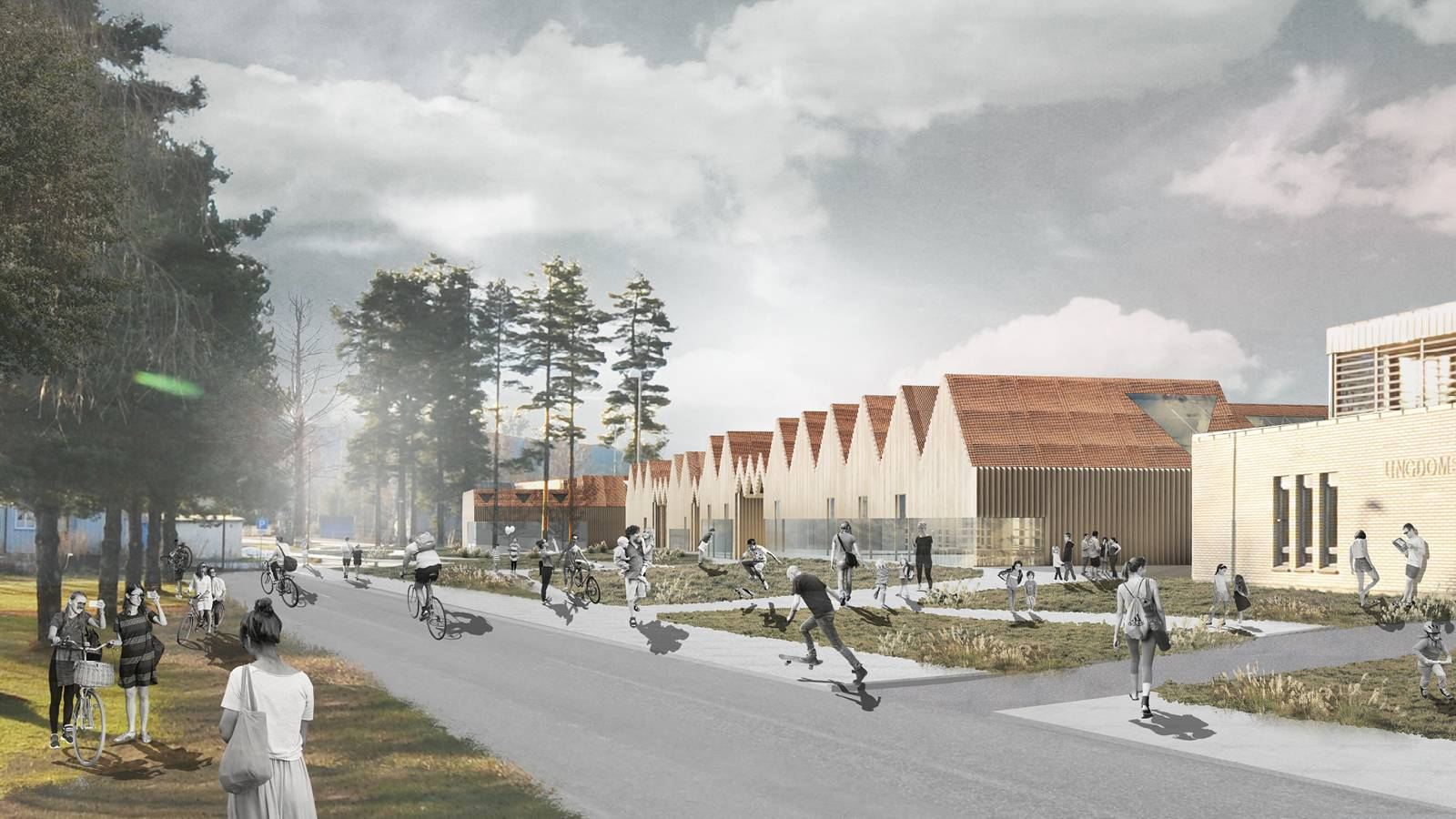 NEW AND EXISTING SCHOOL - Våler Primary School - SPOL Architects