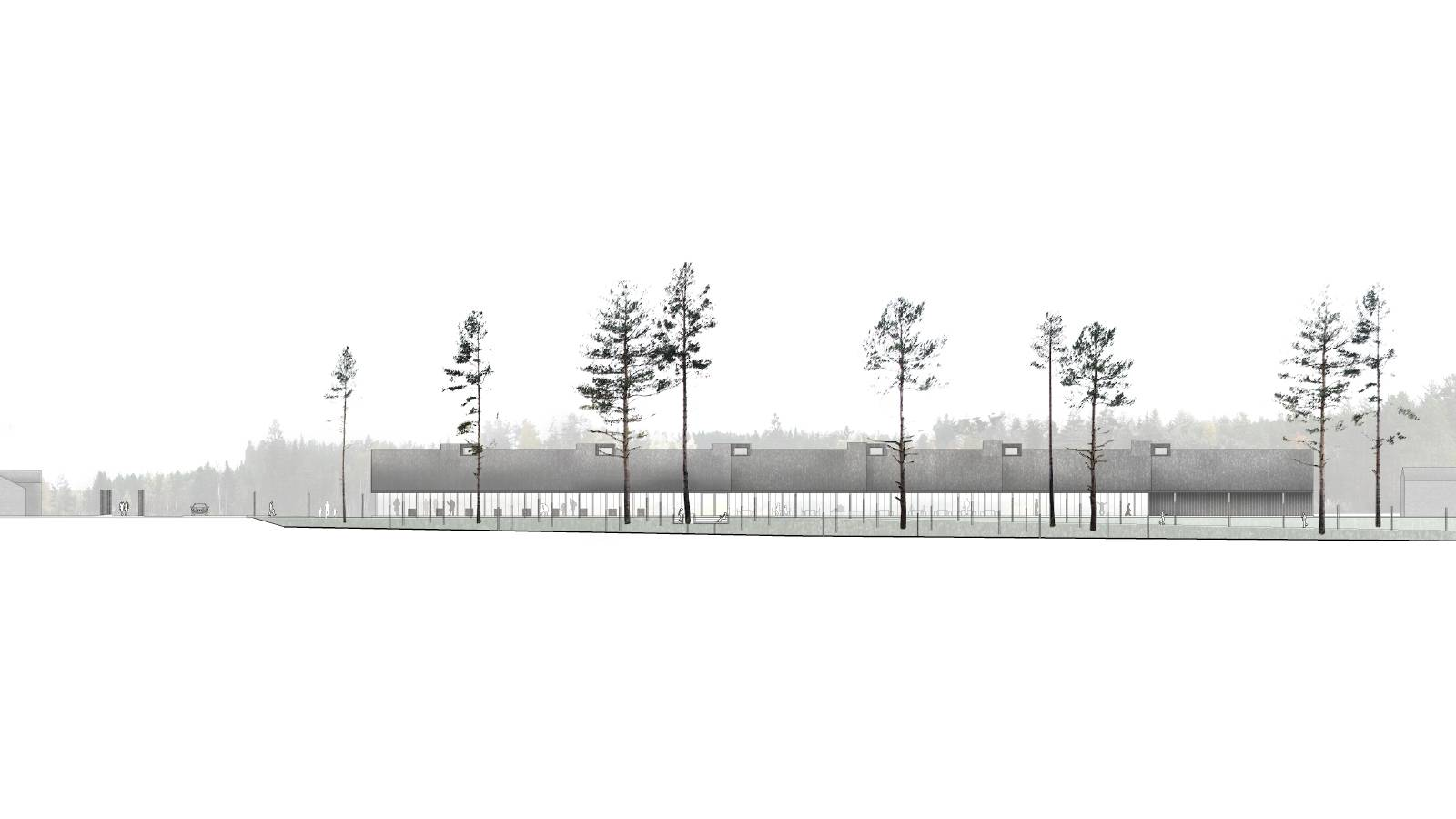 RIVERSIDE ELEVATION - Skogfinsk Museum - SPOL Architects