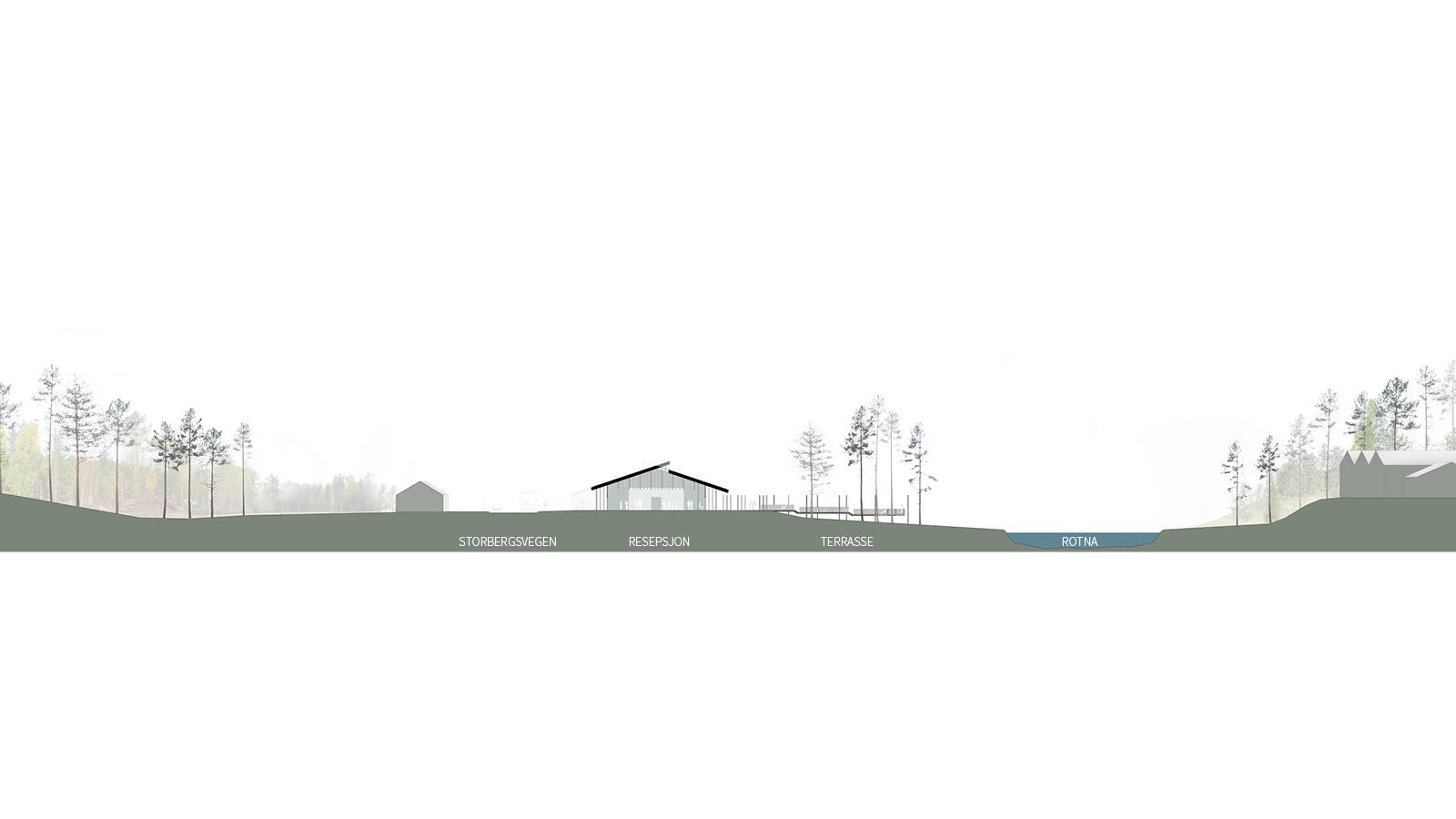 SITE SECTION - Skogfinsk Museum - SPOL Architects