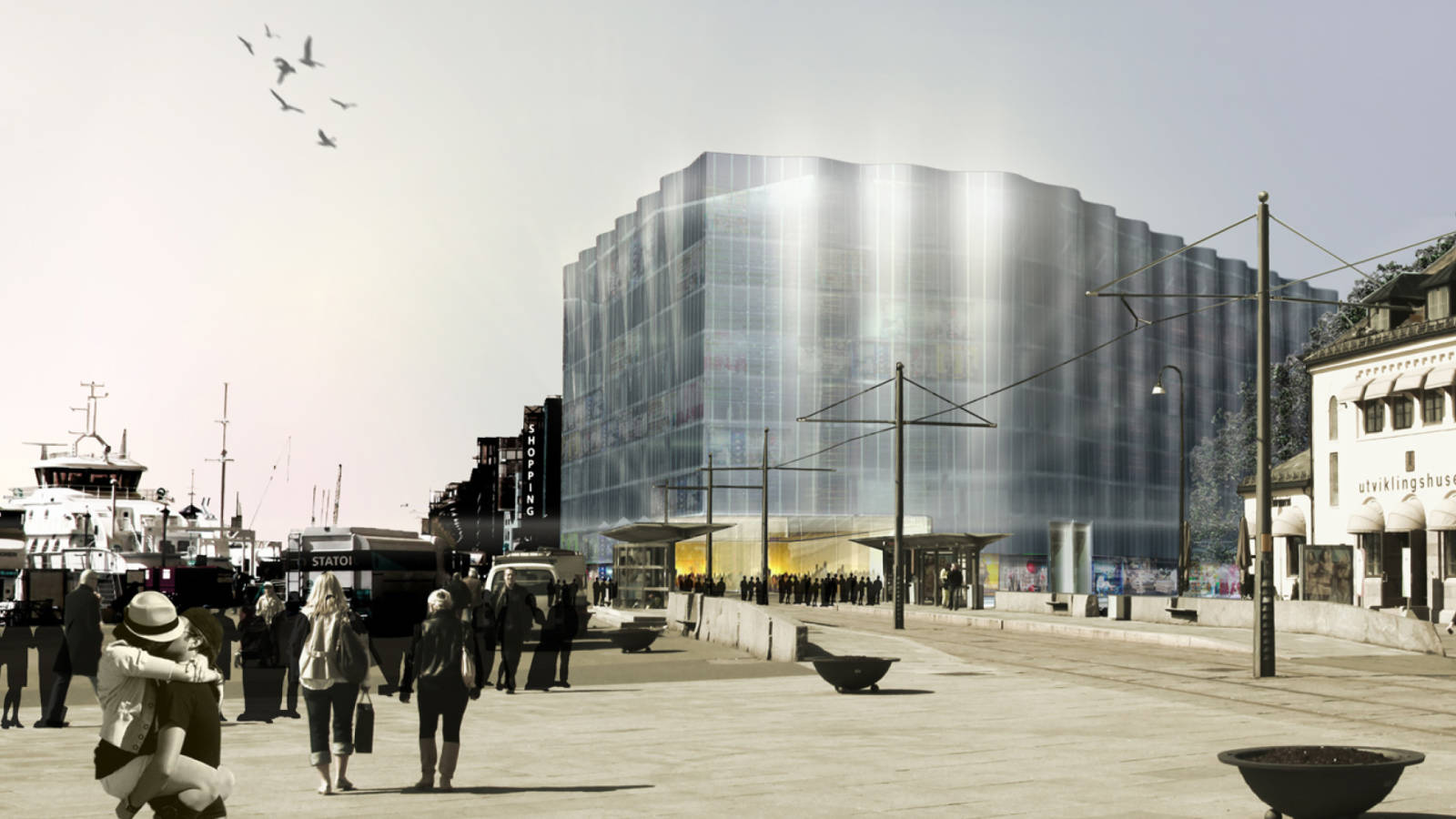 CLEAN CUT ENTRANCE - Aker Brygge Masterplan - SPOL Architects