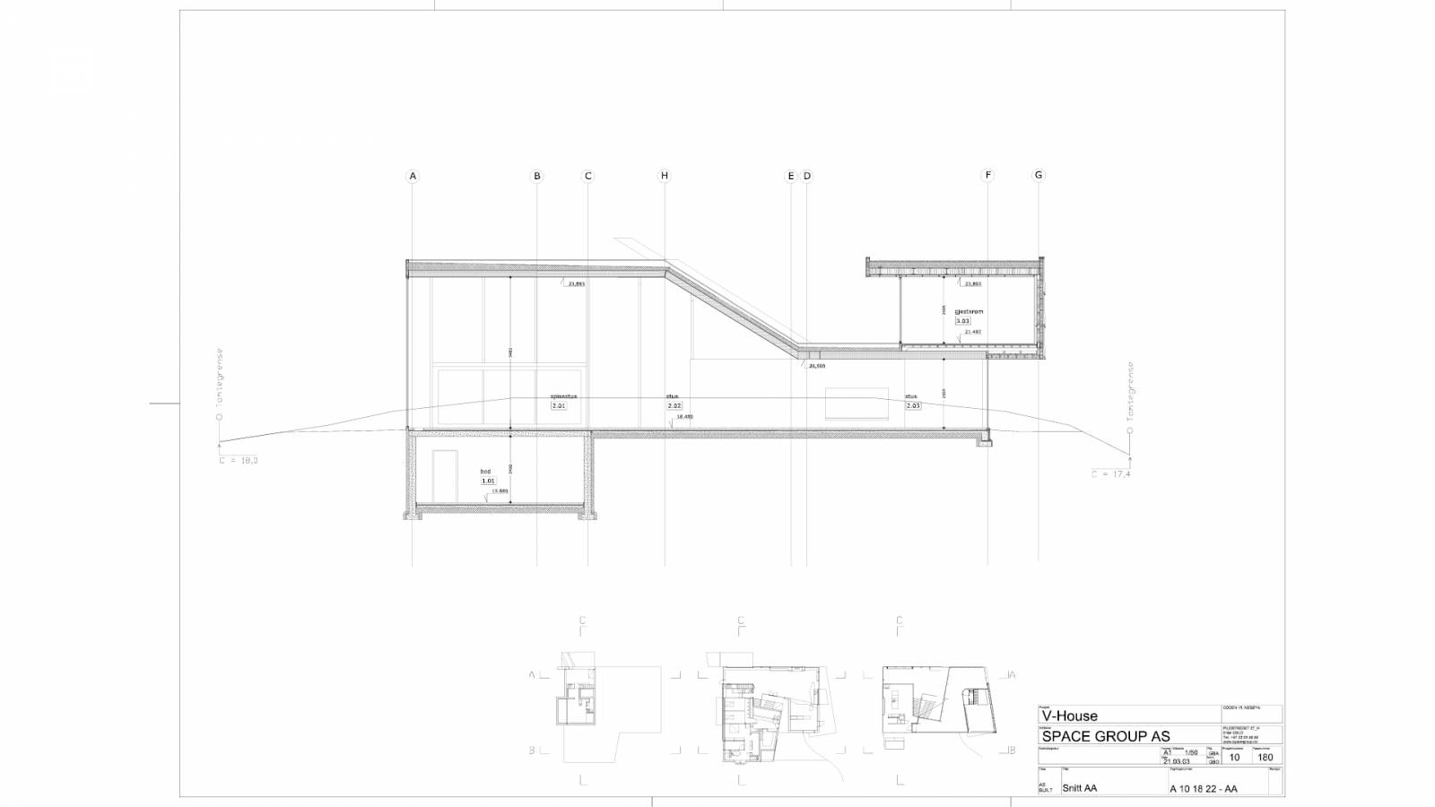 CROSS SECTION - V-House - SPOL Architects
