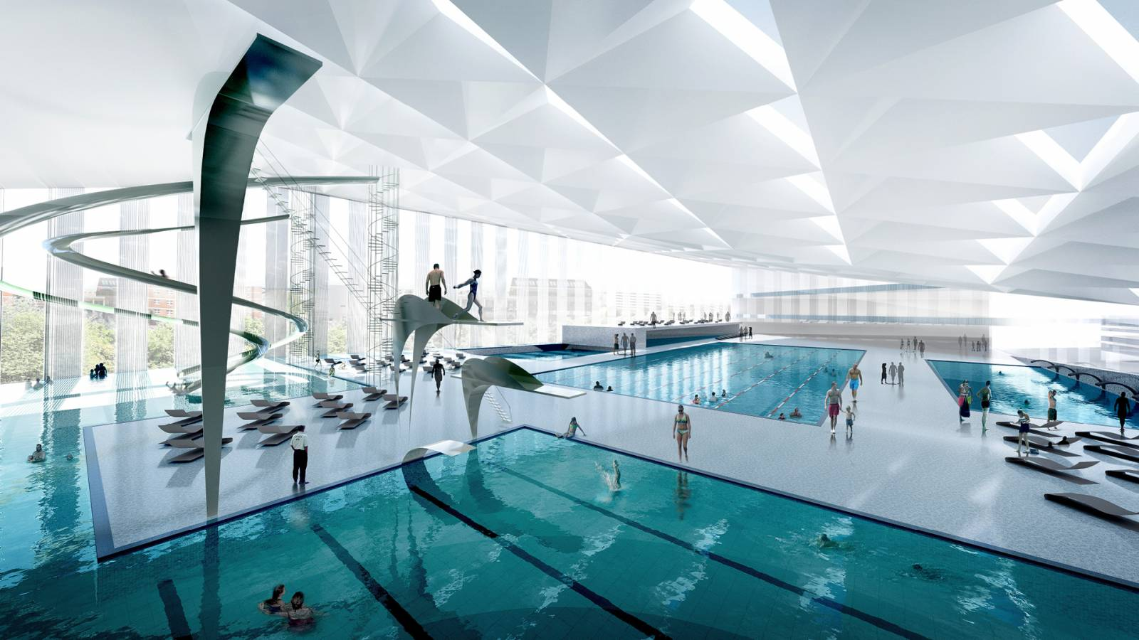 SWIMMING POOL - Økern Centre - SPOL Architects