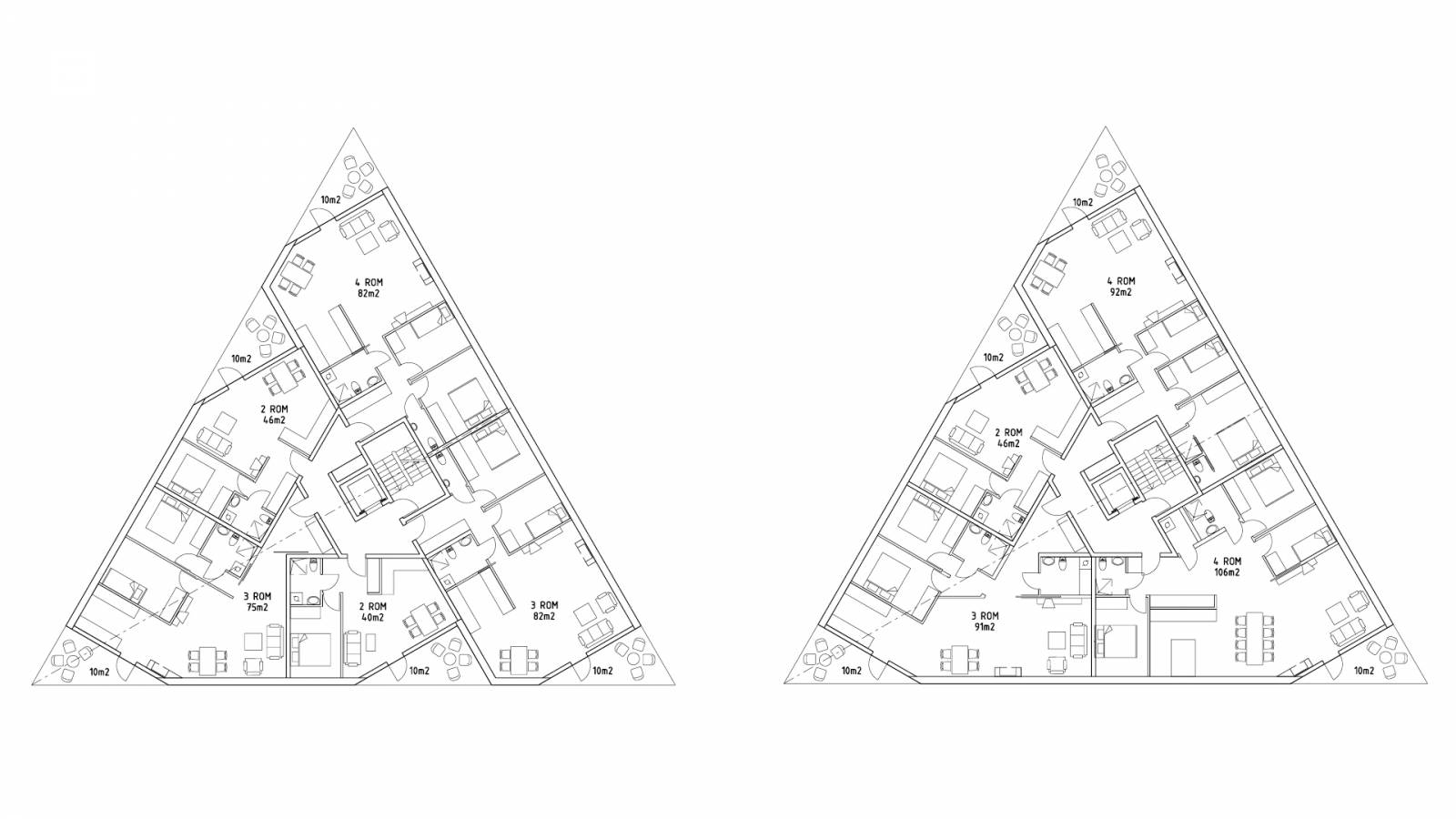 HOUSING TYPICAL PLANS - Økern Centre - SPOL Architects