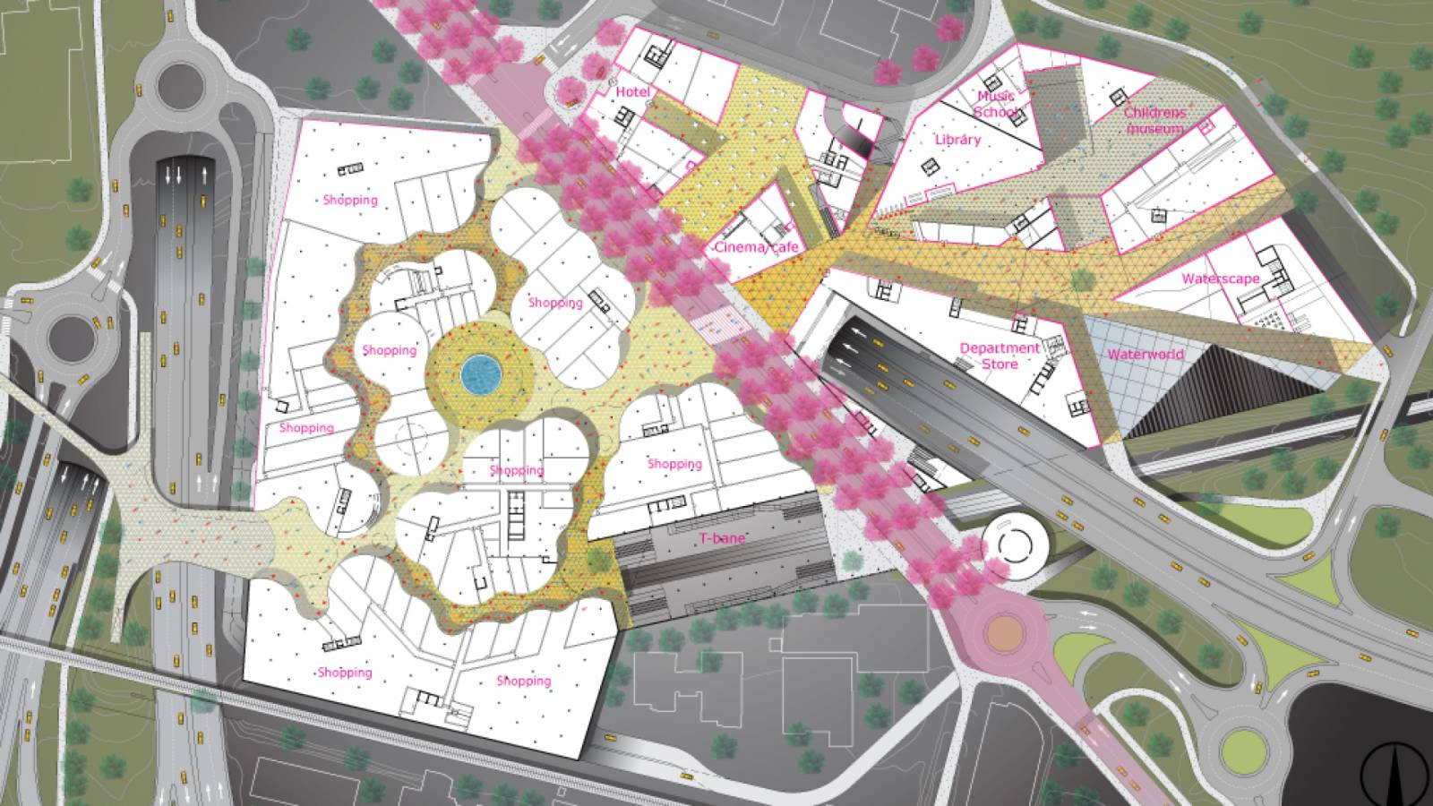 GROUND LEVEL PLAN - Økern Centre - SPOL Architects