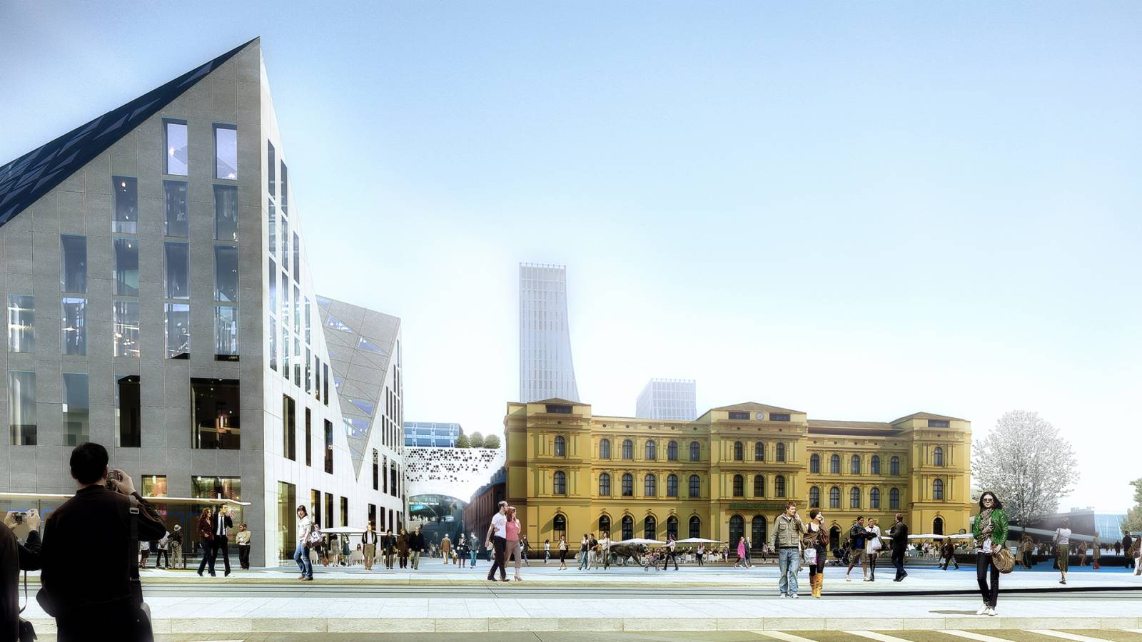 VIEW FROM KARL JOHANS GATE - OSLO CENTRAL STATION - SPOL Architects