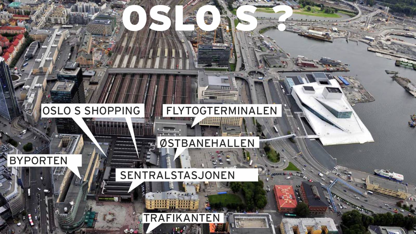 CURRENT STATION IDENTITY - OSLO CENTRAL STATION - SPOL Architects