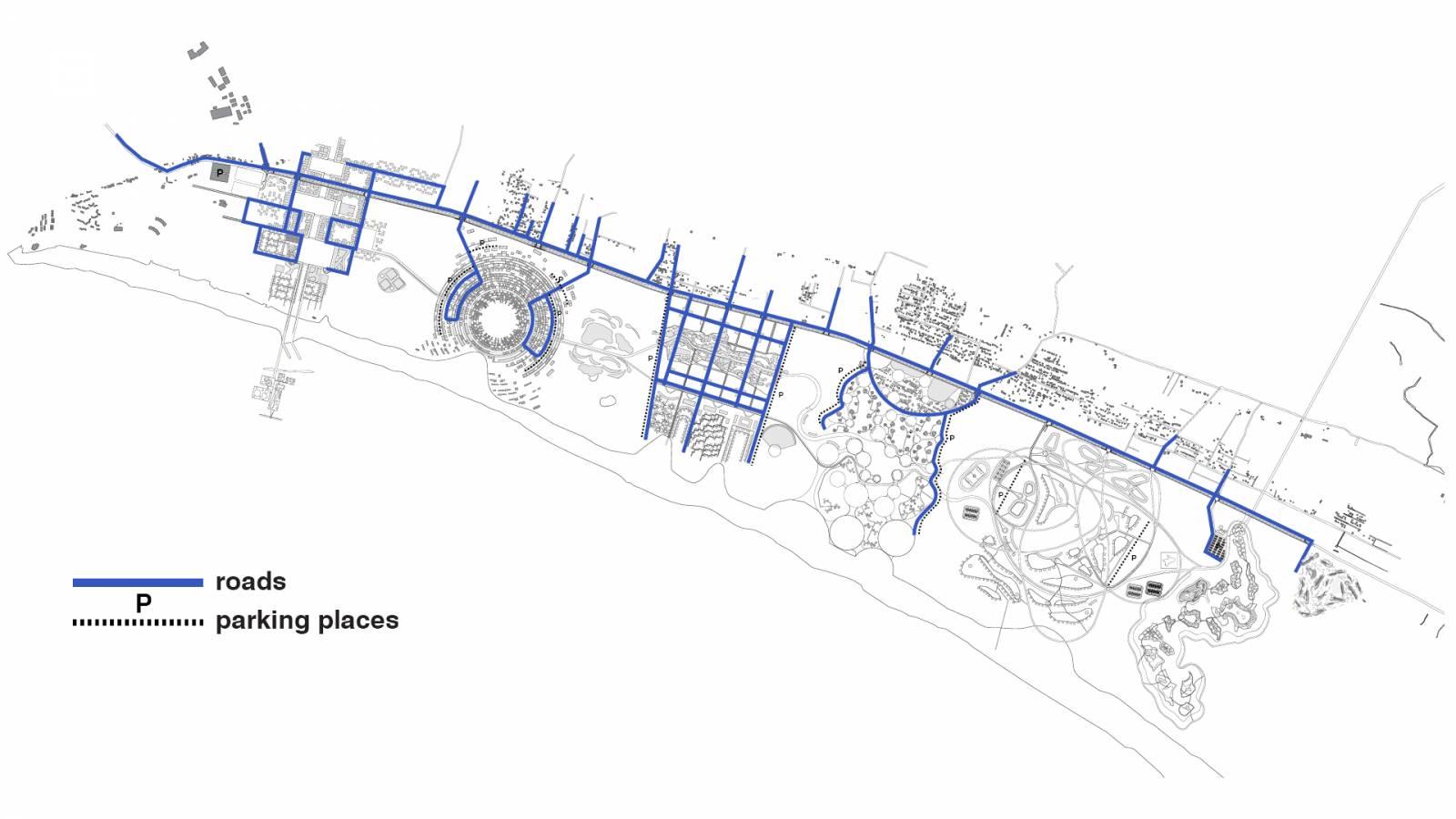 PRIVATE CAR TRAFFIC - Velika Plaza Masterplan - SPOL Architects