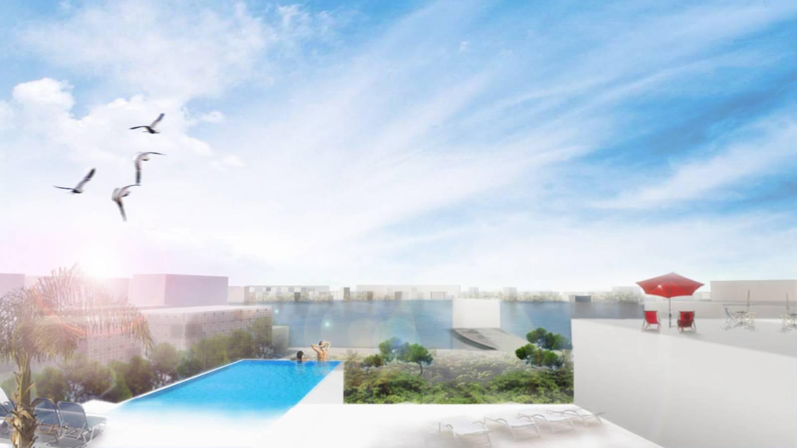 RADIAL LAKE VILLAGE VIEW - Velika Plaza Masterplan - SPOL Architects