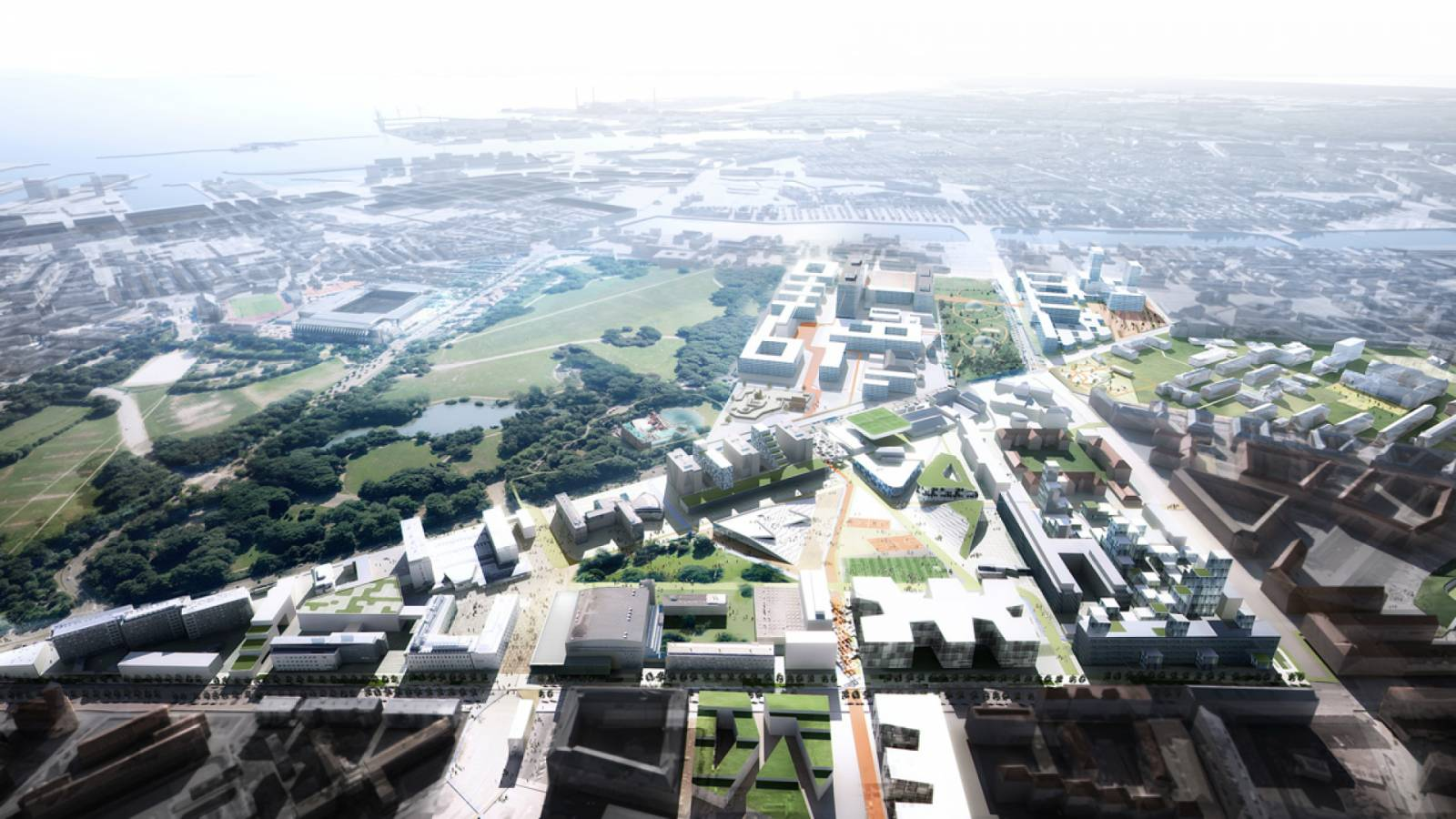 CAMPUS FROM THE AIR - Nørre Campus - SPOL Architects