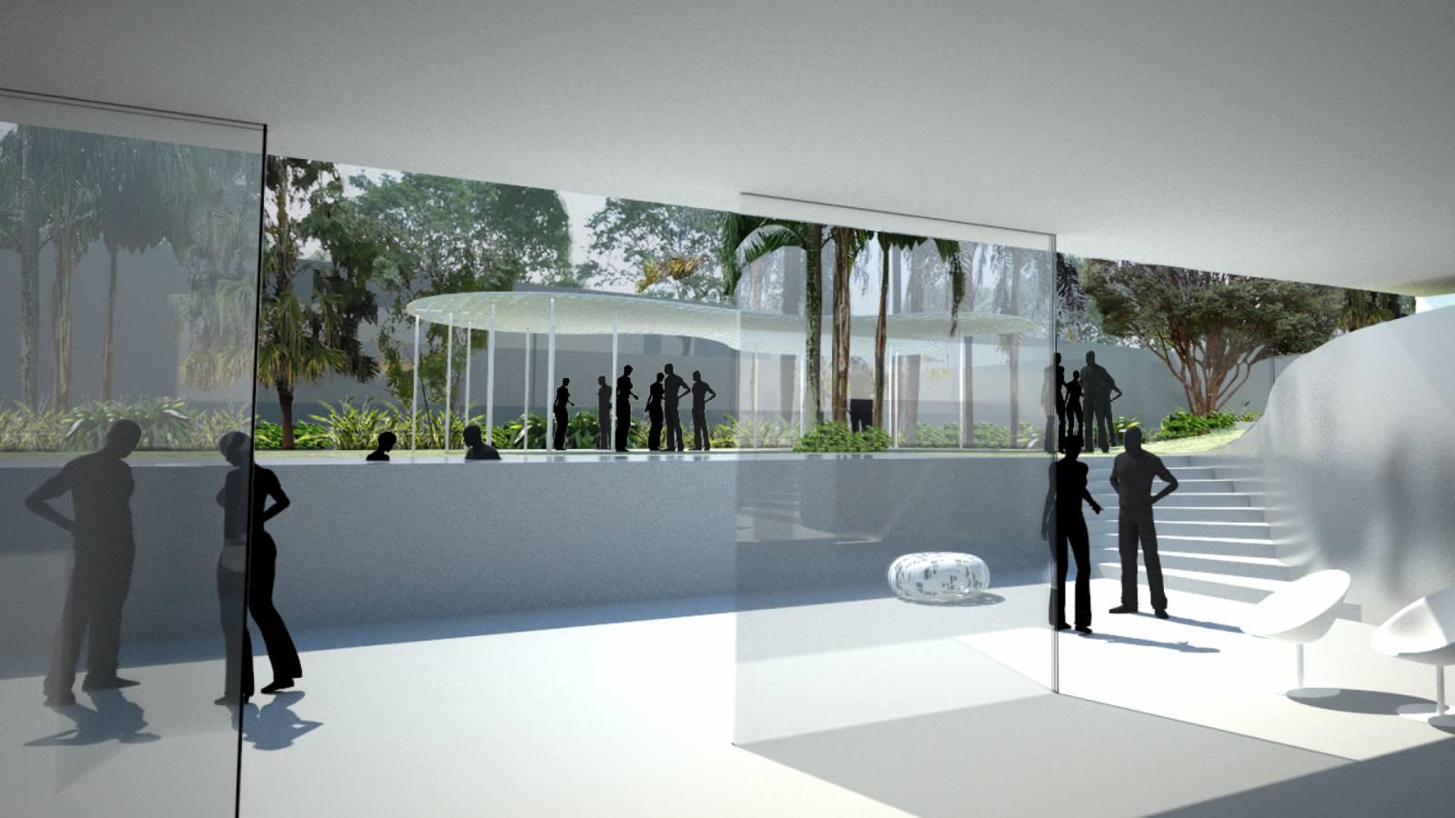 LOWER LEVEL EXHIBITION SPACE - São Paulo Art Pavillion - SPOL Architects